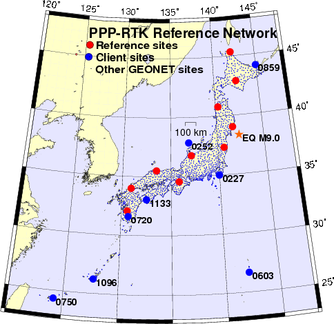 Tohoku Earthquake Real-time Monitoring