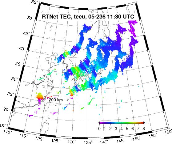 TID over Japan